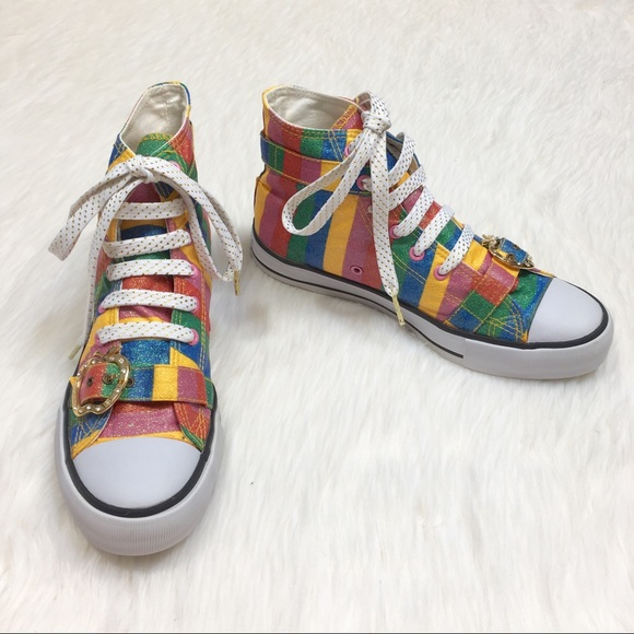 shoes with rainbow bottoms